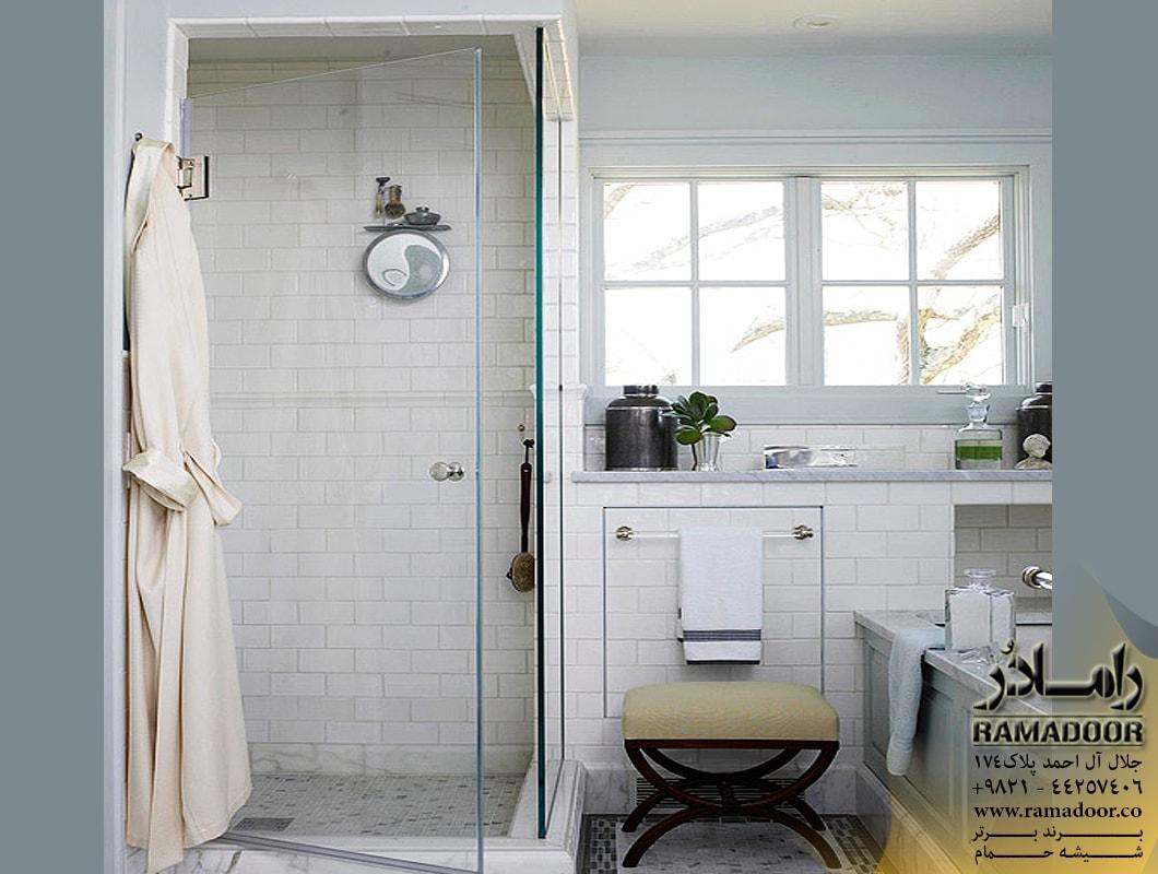 شیشه حمام لولایی(10)