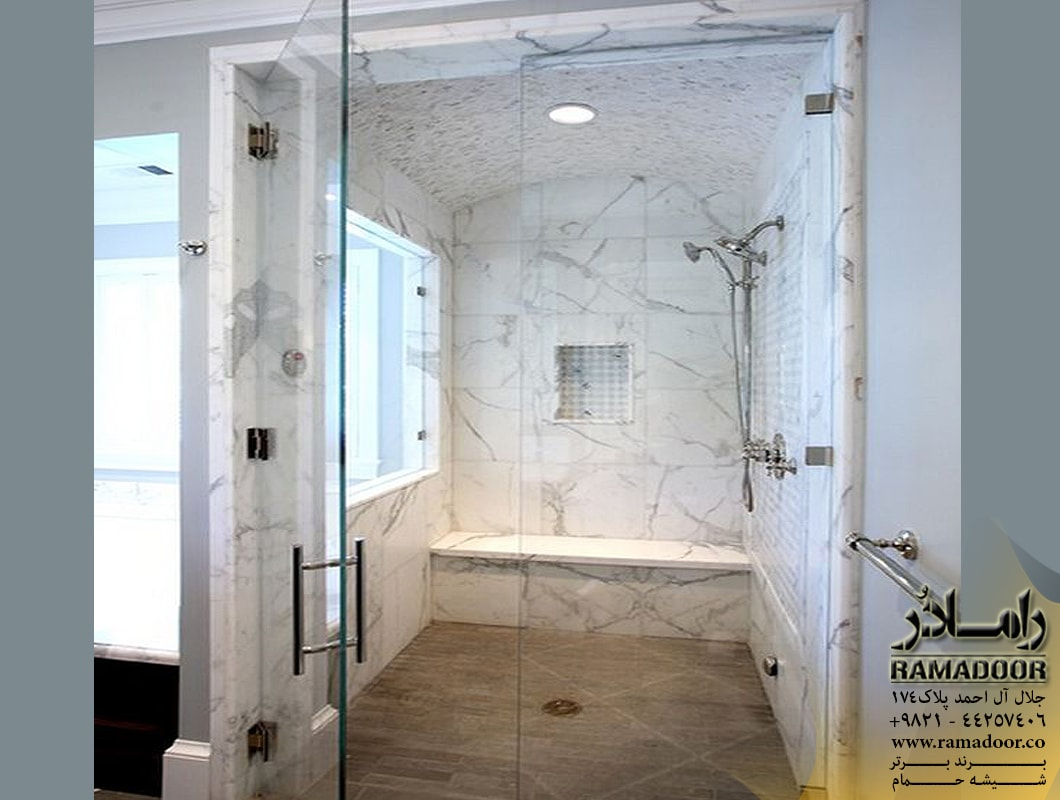 شیشه حمام لولایی(8)