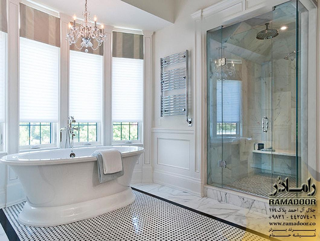 شیشه پارتیشن حمام(1)