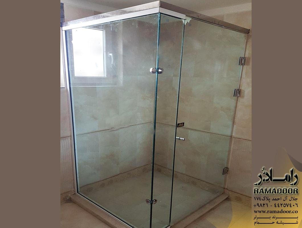 شیشه حمام لولایی(6)