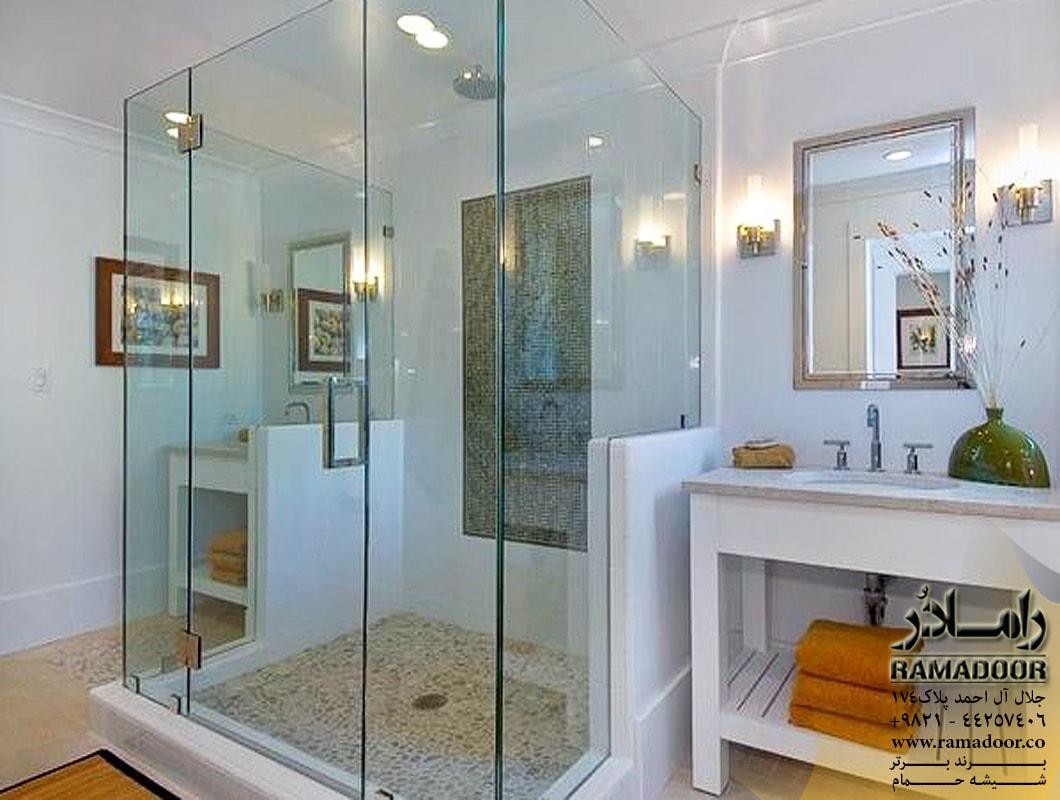 شیشه  حمام لولایی(2)