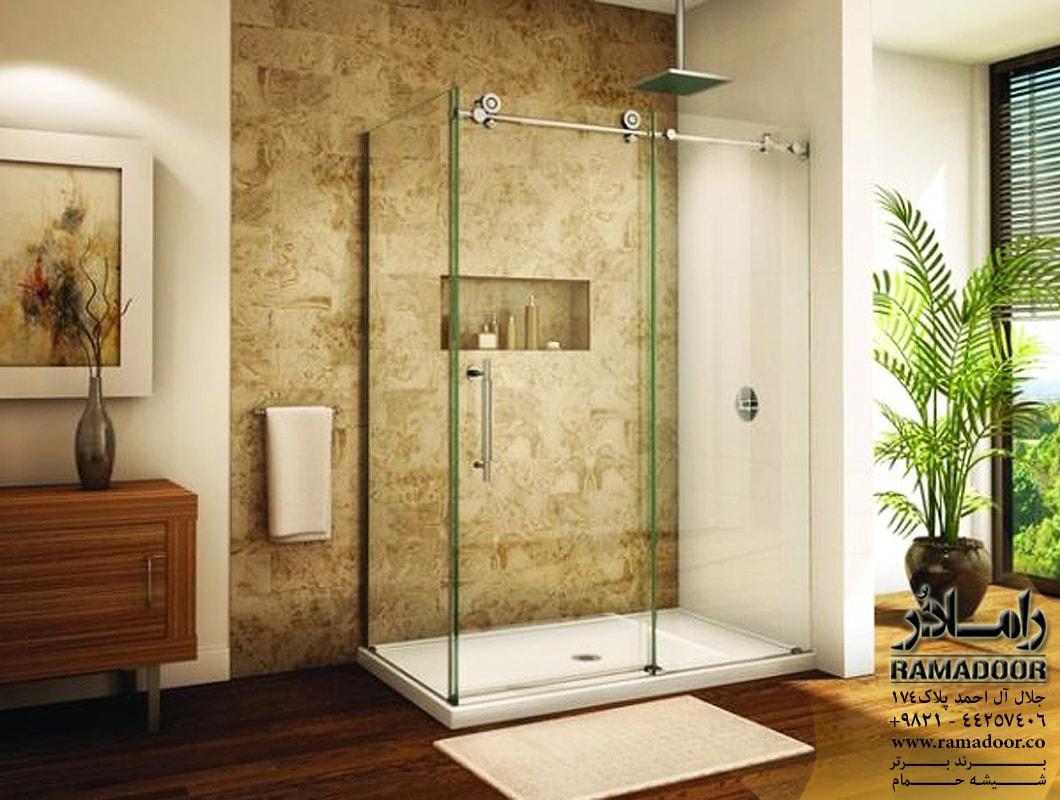 شیشه  حمام ریلی اسپایدری(1)