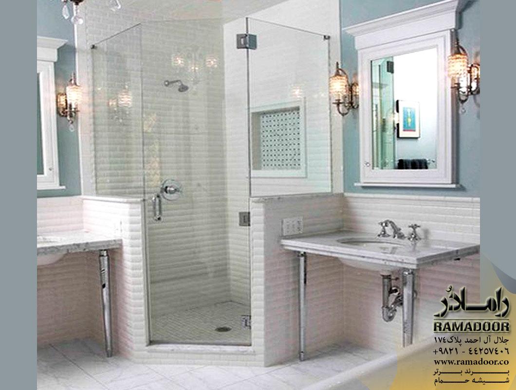 شیشه حمام لولایی(9)