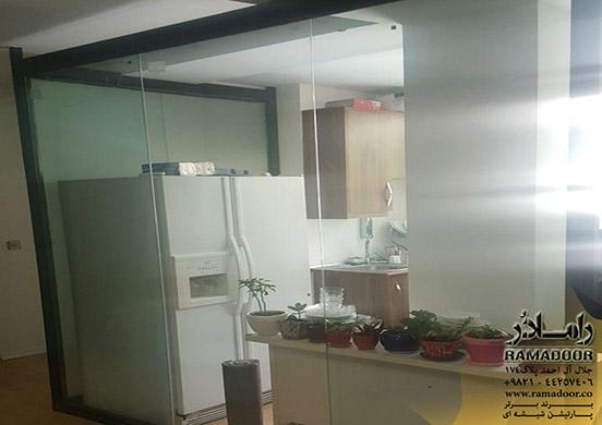 پارتیشن شیشه ای با طرح سندبلاست(8)