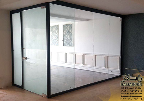 پارتیشن شیشه ای با فریم آلومینیومی(3)