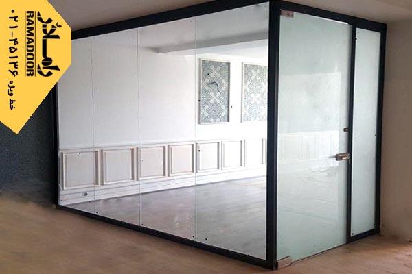 پارتیشن شیشه ای با طرح سندبلاست(14)