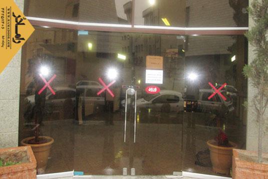 شیشه فروشگاه لولایی(5)