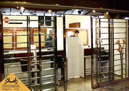 درب کشویی اتوماتیک با حفاظ استیل(3)