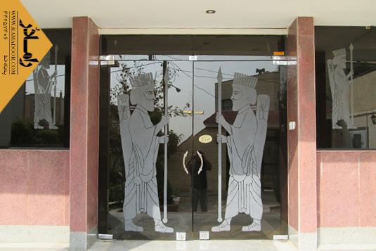شیشه دودبند با طرح سندبلاست(7)