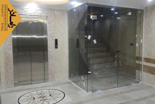 شیشه دودبند راه پله(3)